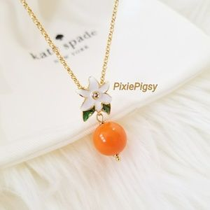 Kate Spade Orange Tangerine Citrus Crush Necklace